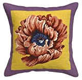 123 Creations C914A.20x20 Poppy Needlepoint Pillow, 20 W x 20 H