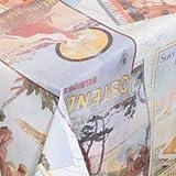 WACHSTUCH TISCHDECKE abwischbar Meterware, Größe wählbar, 1000x140 cm, Glatt Postkarten