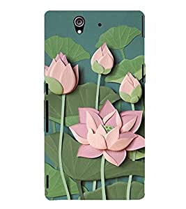 Lotus Vector Clipart 3D Hard Polycarbonate Designer Back Case Cover for Sony Xperia Z :: Sony Xperia Z L36h