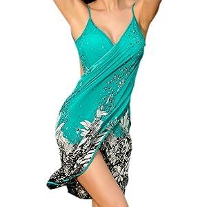 Zeagoo Women's Floral Bikini Swimwear Cover Up Beach Dress