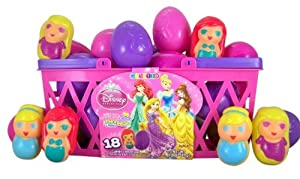 Pack of 18 Walt Disney Princess Candy Filled Plastic Eggs for Easter Basket