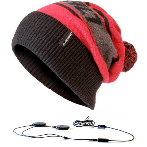 Aerial7 Mayrhofen Red Beanie W/ Built-In Headphones