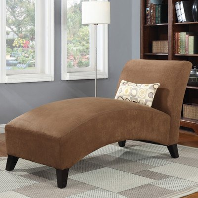 Handy living 340cl aaa89 084 microfiber chaise dark brown for Brown microfiber chaise lounge