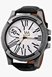 Watch Me White Round Analogue Leather Wrist Watch For Men HOW TO BE A ZILLION...