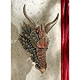 Design Toscano Dragon Feathers Sculptural Wall Mask