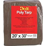 Do it Medium Duty Brown/Green Poly Tarp-20X30 BR/GR MEDDUTY TARP
