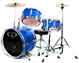 GP50 3-Piece Junior Child/Kids Drum Set with Sticks – Metallic Picture