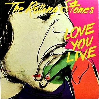 Love You Live - Japan import without OBI strip by Rolling Stones, Mick Jagger, Keith Richards, Charlie Watts and Ronnie Wood