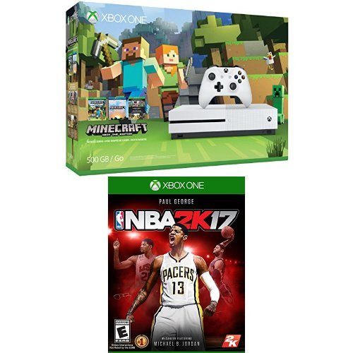 Xbox-One-S-500GB-Console-Minecraft-Bundle-and-NBA-2K17