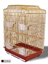 Lorenzo Gold Gold Lorenzo Bird Cage For Budgies Canaries Lovebirds Cockatiels