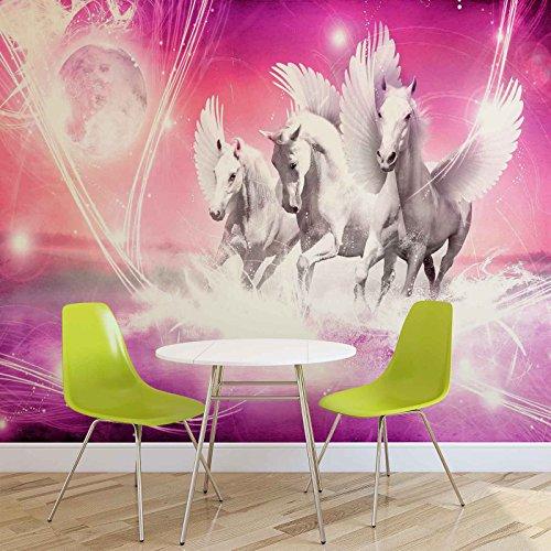 gefl gelte pferde pegasus rosa forwall fototapete tapete fotomural mural wandbild. Black Bedroom Furniture Sets. Home Design Ideas