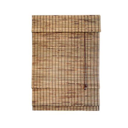 Lewis hyman 0257287 kiawah burnt woven wood roman shade for 20 inch window blinds