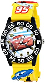 Disney Kids' W001505 Disney Cars 3D Plastic Watch, Yellow 3D Plastic Strap, W001505 Analog Display Analog Quartz Yellow Watch