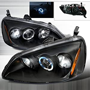 01 02 03 honda civic projector halo headlights. Black Bedroom Furniture Sets. Home Design Ideas