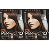 Clairol Perfect 10 by Nice 'n Easy Hair Color, 6WN, Light Chocolate Brown, 2 pk