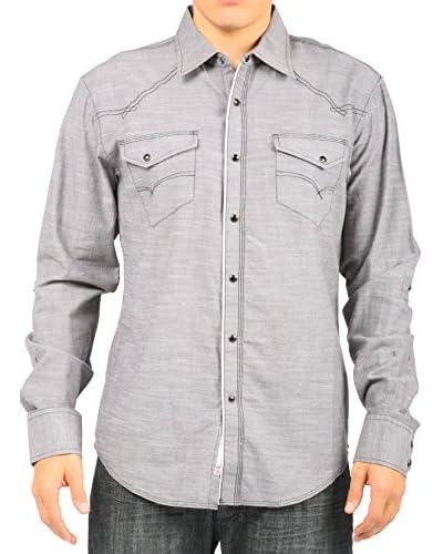 Micros Men's Long Sleeve Woven Shirt