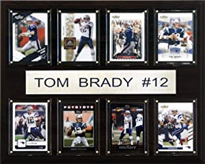 NFL Tom Brady New England Patriots 8 Card Plaque by C&I Collectables
