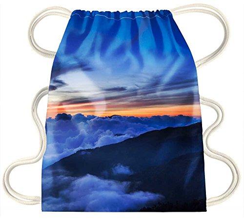 IRocket-Coperta nuvole di montagna al tramonto, coulisse zaino borsa sacco