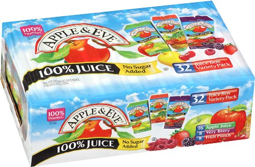 Apple & Eve 100% Juice Variety Pack, 32 Count, 6.75 Oz Boxes front-1068070