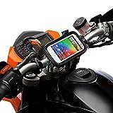Rapide Déblocage Moto Vélo Support Guidon Kit + Résistant À L'eau étui Pour Large TéléPhones Portables...