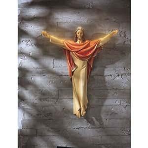 Amazon Com He Is Risen 24 Inch Jesus Christ Hanging Wall