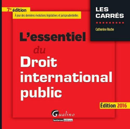 L'essentiel du droit international public 2016