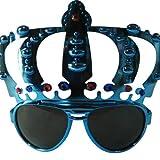 Funcart Blue Crown party sunglasses