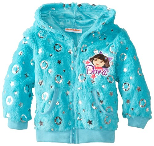 Nickelodeon Little Girls' Dora The Explorer 1 Pieced Ring Hoodie, Turquoise, 6 front-753603