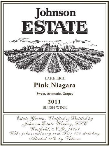 2011 Johnson Estate Lake Erie Pink Niagara Blush Wine 750 Ml