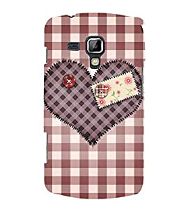 Decorative Heart Design 3D Hard Polycarbonate Designer Back Case Cover for Samsung Galaxy S Duos S7562