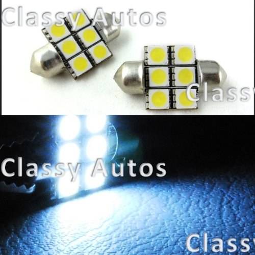 31mm Festoon 6 LEDs SMD LED Bulb White for 3022