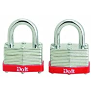 Master Lock8596TDIBDo it 2-Pack Warded Steel Padlocks-2PK 1-1/2