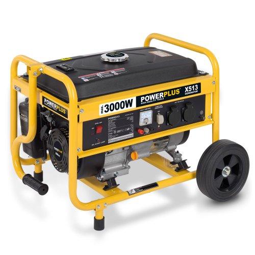 Mobiler benzinbetriebener Stromerzeuger, Generator, Notstromaggregat 3.000 Watt
