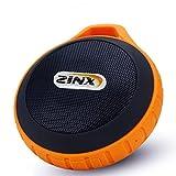 Zinx 防水 アウトドア ブルートゥース ワイヤレス スピーカー Bluetooth Speaker カラビナ付き orange