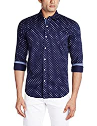 Proline Men's Casual Shirt (8907007298046_PV10626_X-Large_Navy)