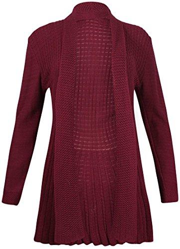 цена на PurpleHanger Women's Waterfall Knit Open Cardigan Top Plus Size