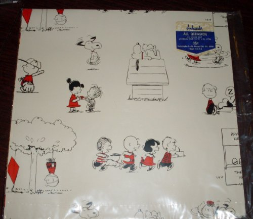 Vintage 1960's Hallmark Peanuts Gang Snoopy, Pig Pen Pkg Gift Wrap Wrapping Paper - Birthday, Any Occasion