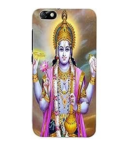 ColourCraft Lord Vishnu Design Back Case Cover for HUAWEI HONOR 4X
