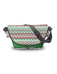 Atrangee Acoma Aztec Messenger Bag (Green, Black)