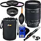Canon EF-S 18-135mm f/3.5-5.6 IS Standard Zoom Lens for Canon EOS 7D, 60D, 60Da, 70D, EOS Rebel SL1, T1i, T2i, T3, T3i, T4i, T5i, XS, XSi, XT, & XTi Digital SLR Cameras + 10pc Bundle Deluxe Accessory Kit w/ HeroFiber® Ultra Gentle Cleaning Cloth