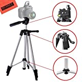 Lightweight 57-inch Camera Tripod for Nikon DL24-500, DL18-50, DL24-85, DF, D300s, D500, D600, D610, D700, D750, D800, D810, D3200, D3300, D3400, D5200, D5300, D5500, D5600, D7000, D7100, D7200 DSLR (Tamaño: A. 57