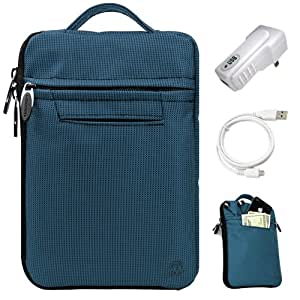 SumacLife Navy Blue Compact Premium Protective Nylon Sleeve Carrying Case with Handle
