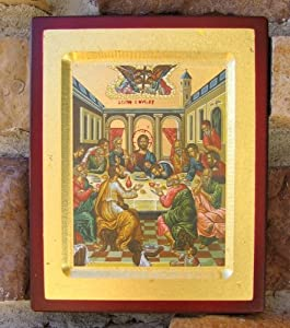 Christian Catholic Wall Hanging The Last Supper Icon Plaque Picture Italy Greece