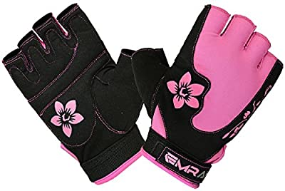 EMRAH Ladies Gym Gloves Fitness ladies Gym Wear Weight Lifting Workout Training Cycling Pink by EMRAH