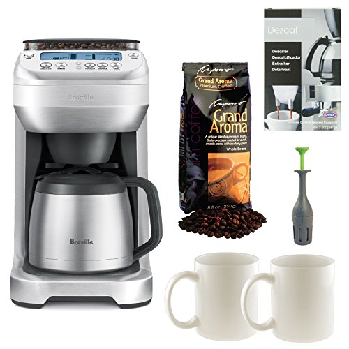 Breville BDC600XL YouBrew Drip Coffee Maker with Two 11 Oz. Ceramic Coffee Mugs plus Capresso Grand Aroma Whole Bean Coffee and Accessory Kit