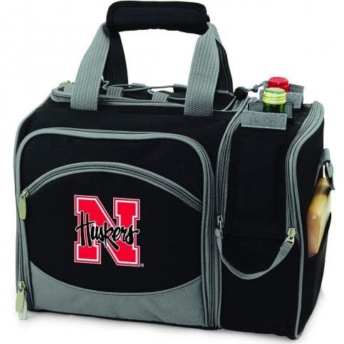 Nebraska Cornhuskers Malibu Insulated Picnic Shoulder Pack/Bag - Burgundy W/Embroidery