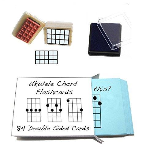 Anfnger-Ukulele-Geschenk-Pack-Chord-Karteikarten-und-Ukulele-Chord-Stempel-und-Pad