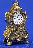 12th Scale Dolls House Accessory - Gilt Clock