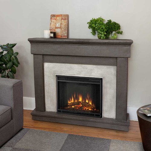 Real Flame Cascade Electric Cast Fireplace