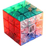 1 X 3x3x3 YJ Yulong Transparent Color Stickerless Cube puzzle Moyu 3x3